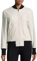 DKNY Striped Varsity Jacket