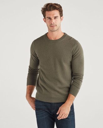 7 For All Mankind Cashmere Crewneck in Army