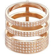 Repossi 'Berbère Module' diamond 18k rose gold three row ring