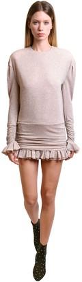 Philosophy di Lorenzo Serafini Glittered Jersey Mini Dress