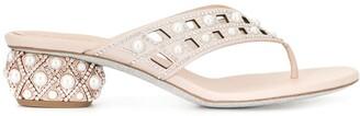 Rene Caovilla Pearl Embellished Sandals