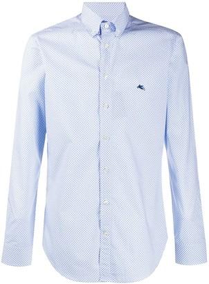 Etro Retro Print Button Collar Shirt