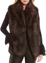 Antonio Melani Fox Fur Frank Vest