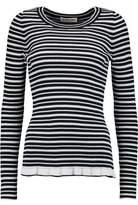 See by Chloe Striped Knitted Cotton-Blend Top