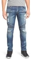Hudson 'Blinder' Skinny Fit Moto Jeans (Faction)