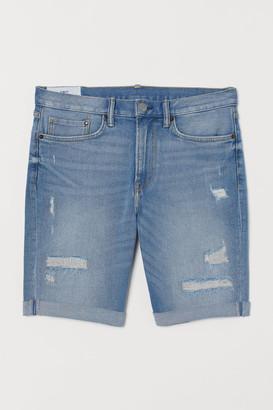H&M Slim Denim Shorts - Blue