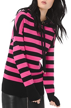 MICHAEL Michael Kors Striped Cotton-Blend Hoodie