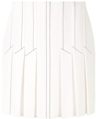 Dion Lee Contrast Stitching Pleated Skirt