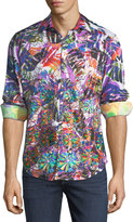 Robert Graham Limited Edition Allover Printed Sport Shirt, Multi
