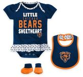 NFL Chicago Bears Size 24M 3-Piece Creeper, Bib, and Bootie Set