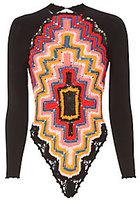 Adam Selman Long Sleeve Crochet Bodysuit