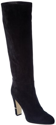 Sergio Rossi Brixton Suede Tall Boot