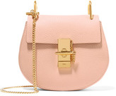 Chloé Drew Mini Textured-leather Shoulder Bag - Blush