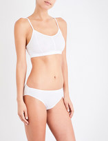Sunspel Soft-cup cotton-jersey bralette