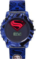 DC COMICS DC Comics Batman vs. Superman LCD Rotating Flash Dial with Superman Strap Watch