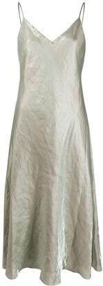 Vince Iridescent Crinkled Slip Dress
