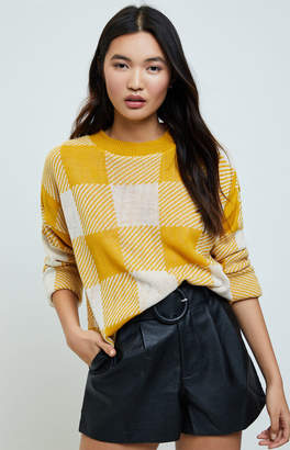 Daisy Street Checker Knit Sweater