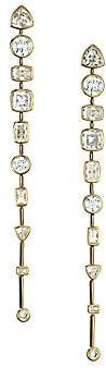 Adriana Orsini Women's 18K Goldplated & Cubic Zirconia Bezel-Set Linear Post Earrings