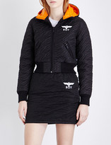 Boy London Hooded cropped quilted jacket