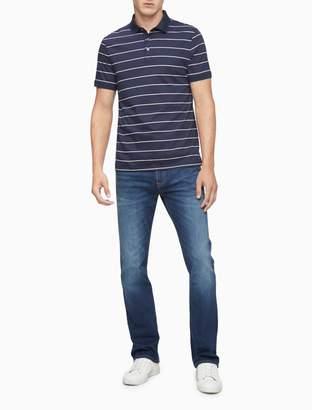 Calvin Klein New Essentials Slim Fit Auto Stripe Polo Shirt