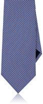 Brioni Men's Basket-Weave Neat Silk Necktie-RED, BLUE, WHITE