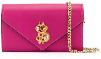 Moschino dollar sign wallet on chain