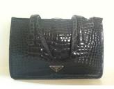 Prada excellent (EX Steel Blue Alligator bag