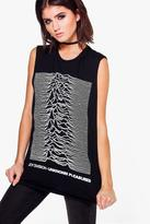 Boohoo Jennifer Joy Division Band Sleeveless Tee