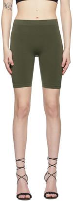 Helmut Lang Khaki Jersey Bike Shorts
