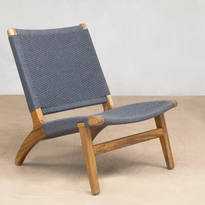 """Thumbnail for your product : Masaya & Co 24"""" Wide Lounge Chair"""