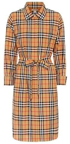 Burberry Check cotton shirt dress