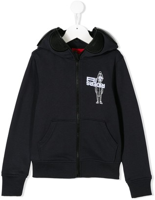 AI Riders On The Storm Mr. AI print zip-up hoodie