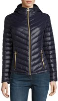 MICHAEL Michael Kors Packable Quilted Jacket w/Hood, Navy