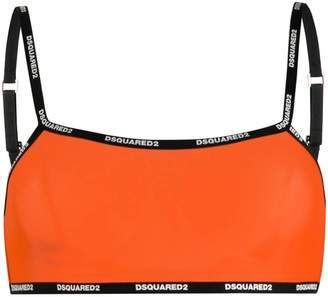 DSQUARED2 logo contrast bralette top