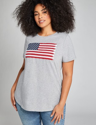 Lane Bryant American Flag Graphic Tee