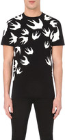McQ by Alexander McQueen Swallow-print cotton-jersey t-shirt