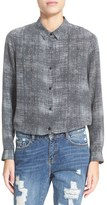 The Kooples Women's Fuzzy Star Print Silk Shirt