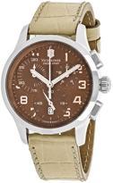 Victorinox Alliance 241320 Women's Beige Leather Chronograph Watch