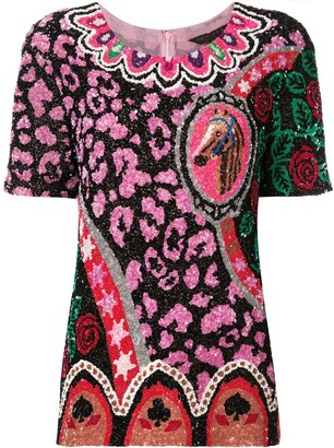 Manish Arora Sequinned Shortsleeved Top