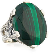 Stephen Dweck Oval Malachite Statement Ring, Size 7