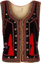 Vilshenko Black Velvet Embellished Nadia Waistcoat