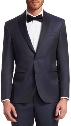 Saks Fifth Avenue MODERN Wool Tuxedo Jacket