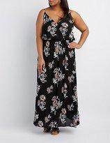 Charlotte Russe Plus Size Floral Surplice Maxi Dress