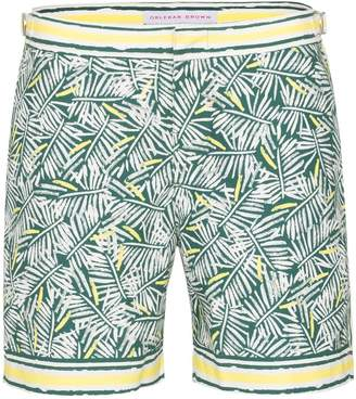 Orlebar Brown Bulldog rainforest print swim shorts