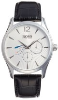 BOSS Commander Multifunction Leather Strap Watch, 41Mm