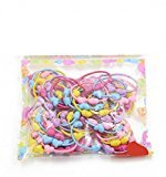 Top Cheer 50 Pcs/lot Mini Rubber Band for Baby Children Girls Candy Color Hair Rope Multicolor (3)
