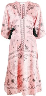Sandro Paris Galy paisley-print dress