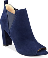 Marc Fisher Sayla Block-Heel Peep-Toe Booties
