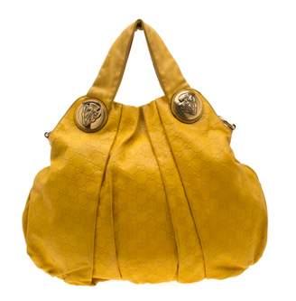 Gucci Hysteria Yellow Leather Handbags