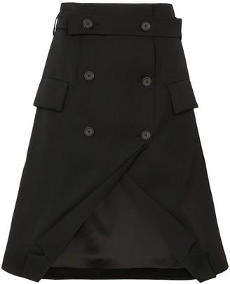 Delada Double-Breasted Tuxedo Skirt
